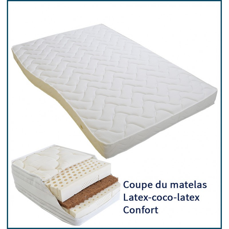 matelas bateau confort en latex soutien ferme. Black Bedroom Furniture Sets. Home Design Ideas