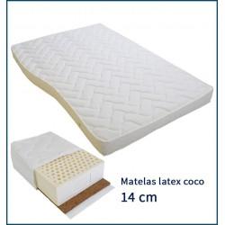 Matelas latex coco 14 cm